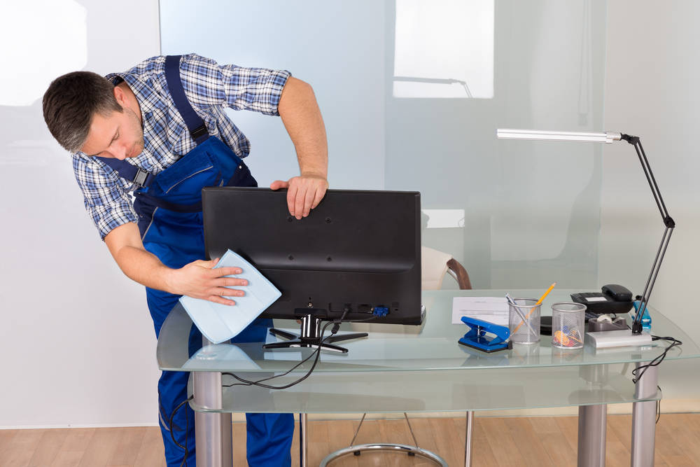 La limpieza en una empresa